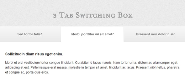 View Information about Tabbed Slider