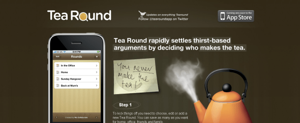 View Information about Tea Round App