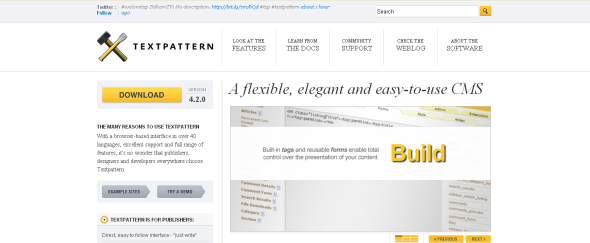 View Information about Textpattern CMS