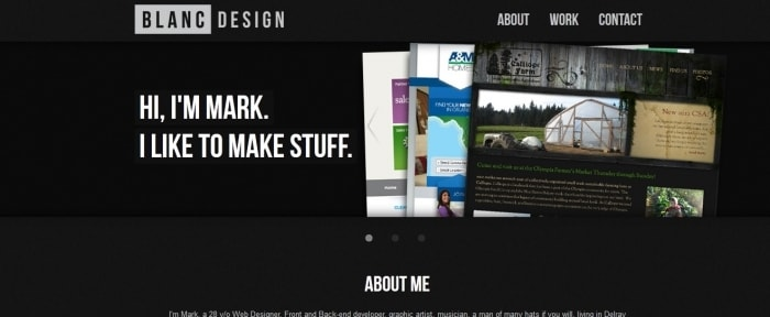 View Information about The Dark Responsive Portfolio of Mark S LeBlanc