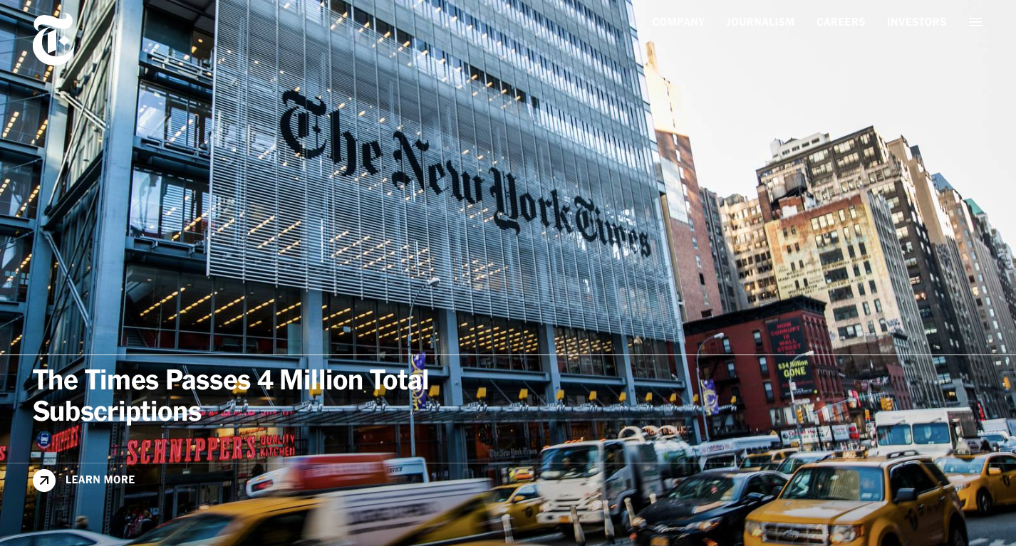 Go To The New York Times Company