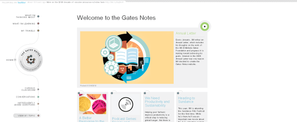 View Information about The Gates Notes