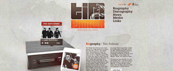 View Information about Tim Palmer