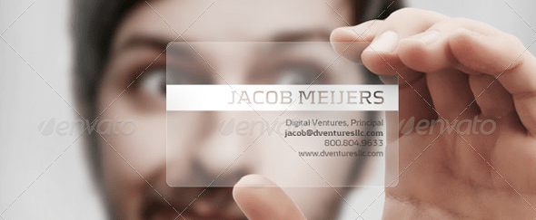 View Information about Translucent Plastic Business Card