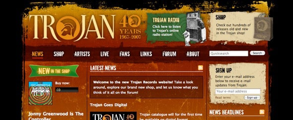 View Information about Trojan Records