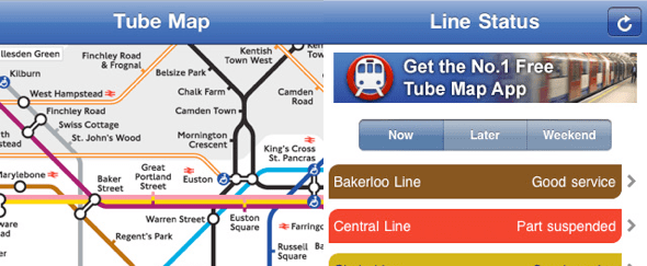 View Information about Tube Map