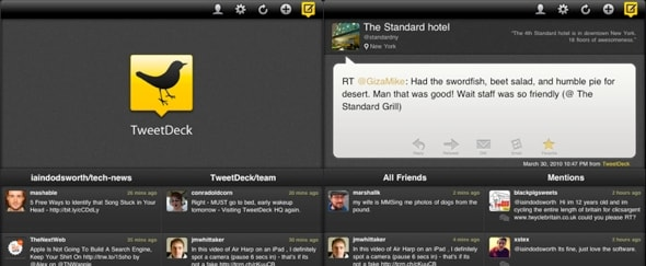 Go To TweetDeck for iPad