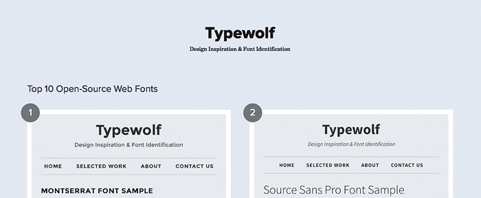 View Information about Typewolf
