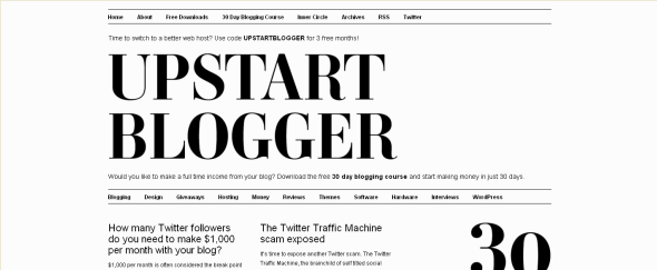 View Information about Upstart Blogger