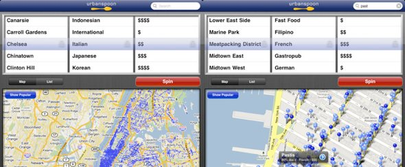 View Information about Urbanspoon for iPad