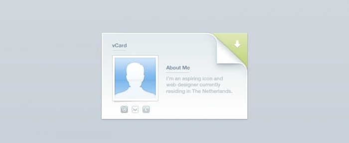 View Information about vCard Minisite