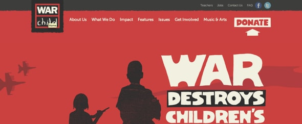 View Information about War Child