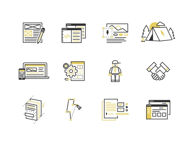 Go To Web & Brand Process Icons