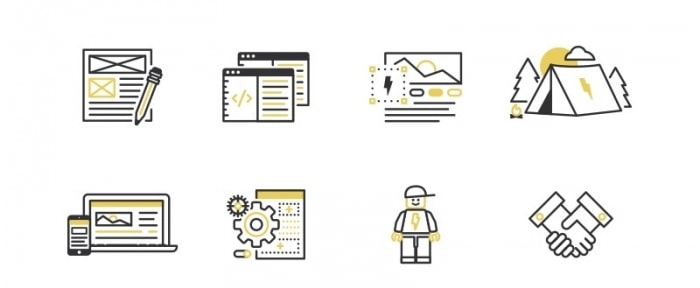 View Information about Web & Brand Process Icons