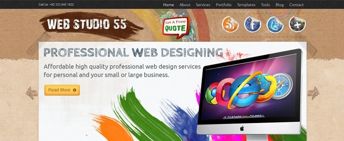 View Information about Web Design Studio