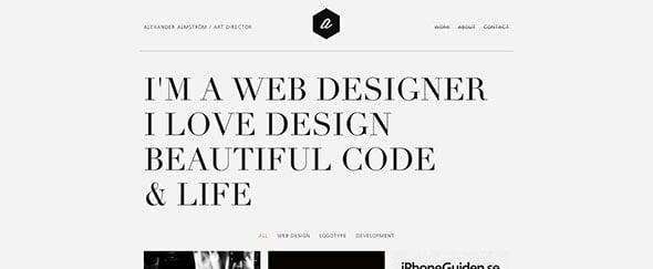 Go To Web Designer / Alexander Almström