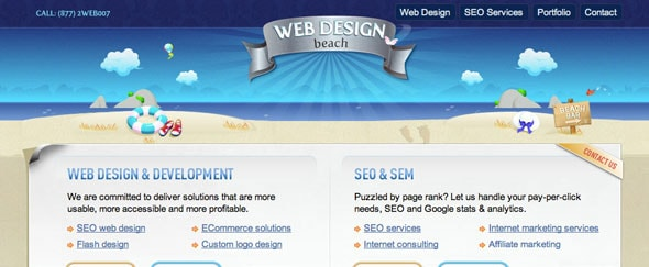 View Information about Webdesignbeach