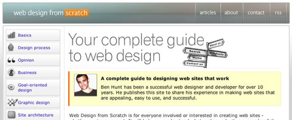 View Information about Web Design from Scratch