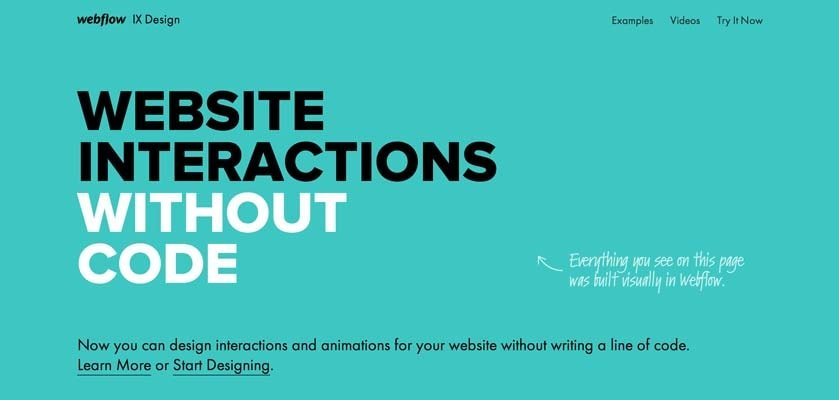 Go To Webflow Interactions