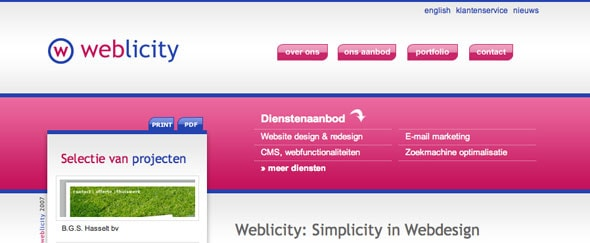 View Information about Weblicity