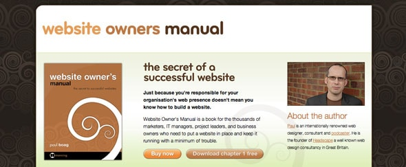 View Information about Website Manual