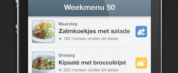 View Information about Weekmenu