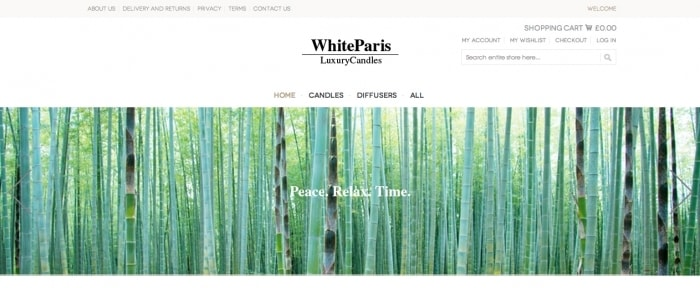 View Information about White Paris Luxury Candles