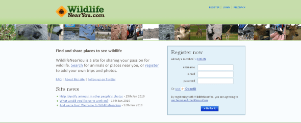 View Information about Wildlife Near You