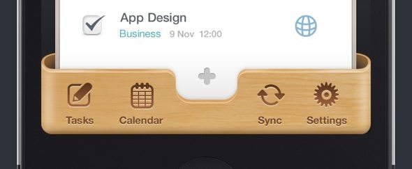Go To Wooden iPhone UI