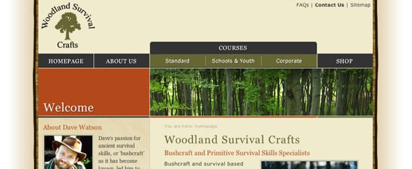 Go To Woodland Survival Crafts