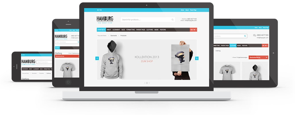 Go To WordPress eCommerce Blog Theme Hamburg