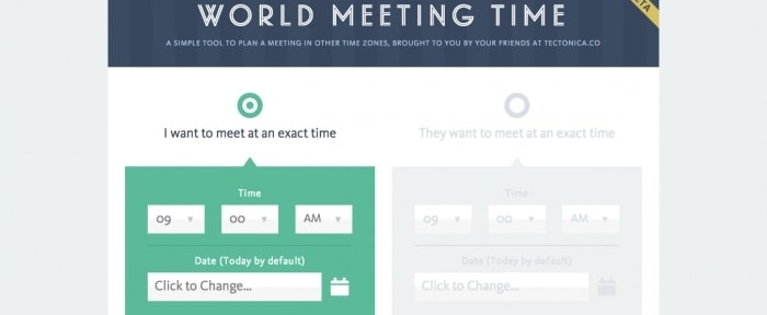View Information about World Meeting Time