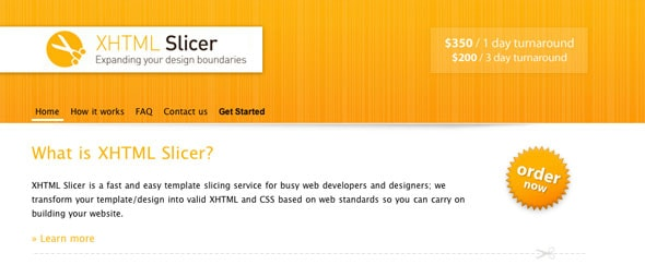 View Information about XHTML Slicer