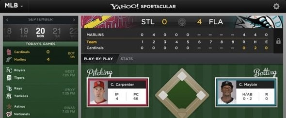 View Information about Yahoo! Sportacular
