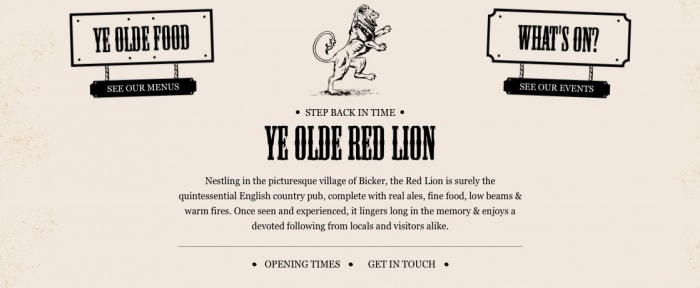 Go To Ye Olde Red Lion