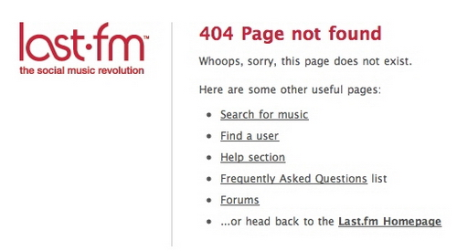 Custom 404 Error Pages