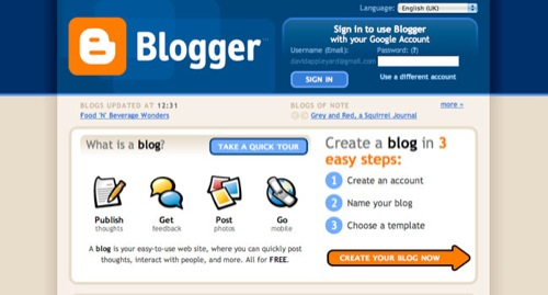 Blogger Blog Design