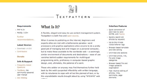Textpattern Blog Design