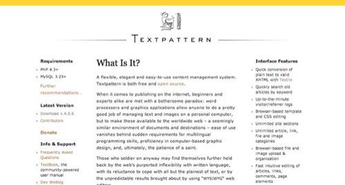 Textpattern Blog Design