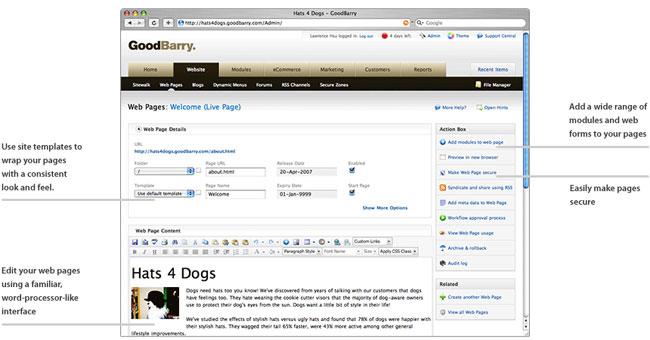 GoodBarry Website Management