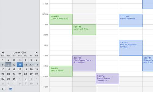 Mobile Me Calendar