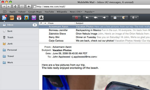Mobile Me Email
