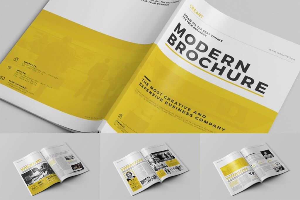 In This Pack You Can Find Corporate, Portfolio And Interior Design Brochures.  All Templates Are Print Ready And ...