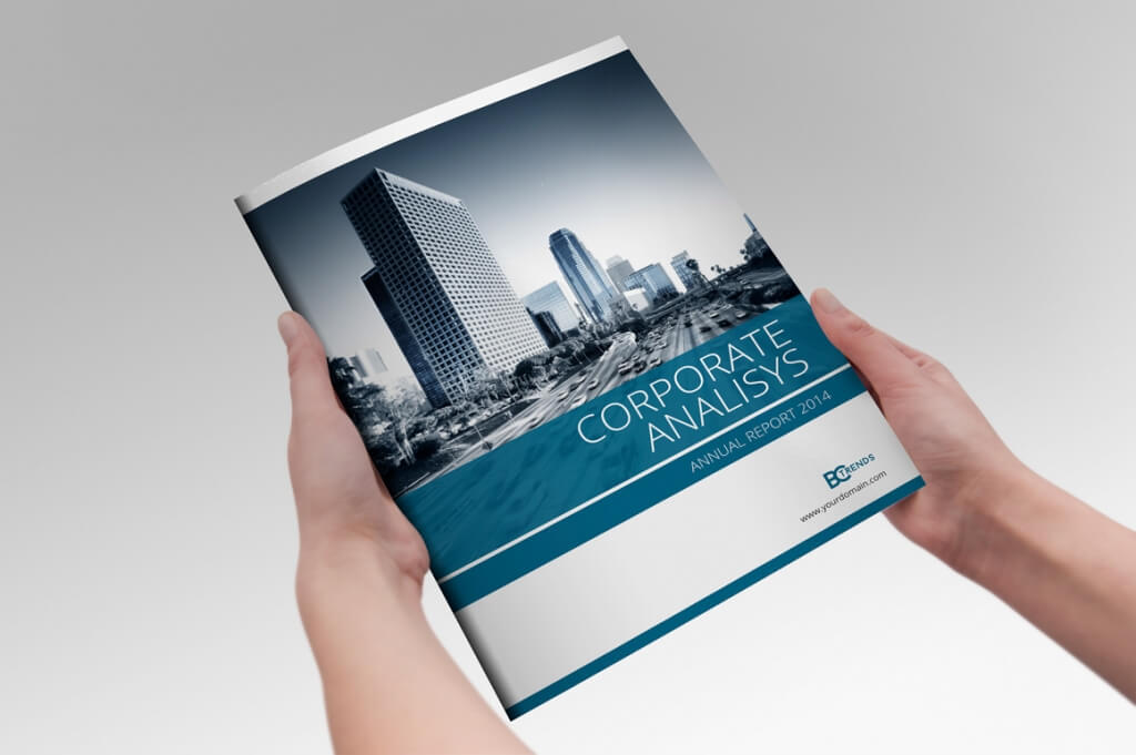 Annual Report Design Template  Free Report Cover Page Template