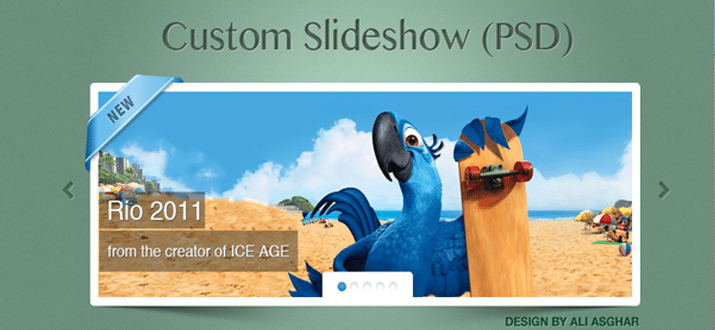 freebie jquery slideshow html css webdesign download
