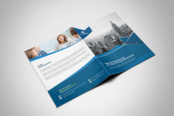 70 modern corporate brochure templates design shack for One fold brochure template