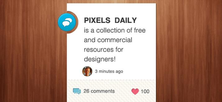 psd freebie information widget website
