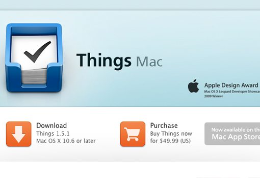 Things Task Management for Mac OSX