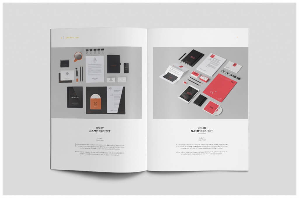 70 modern corporate brochure templates design shack for Indesign interior