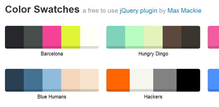 jquery plugin color swatches hex value